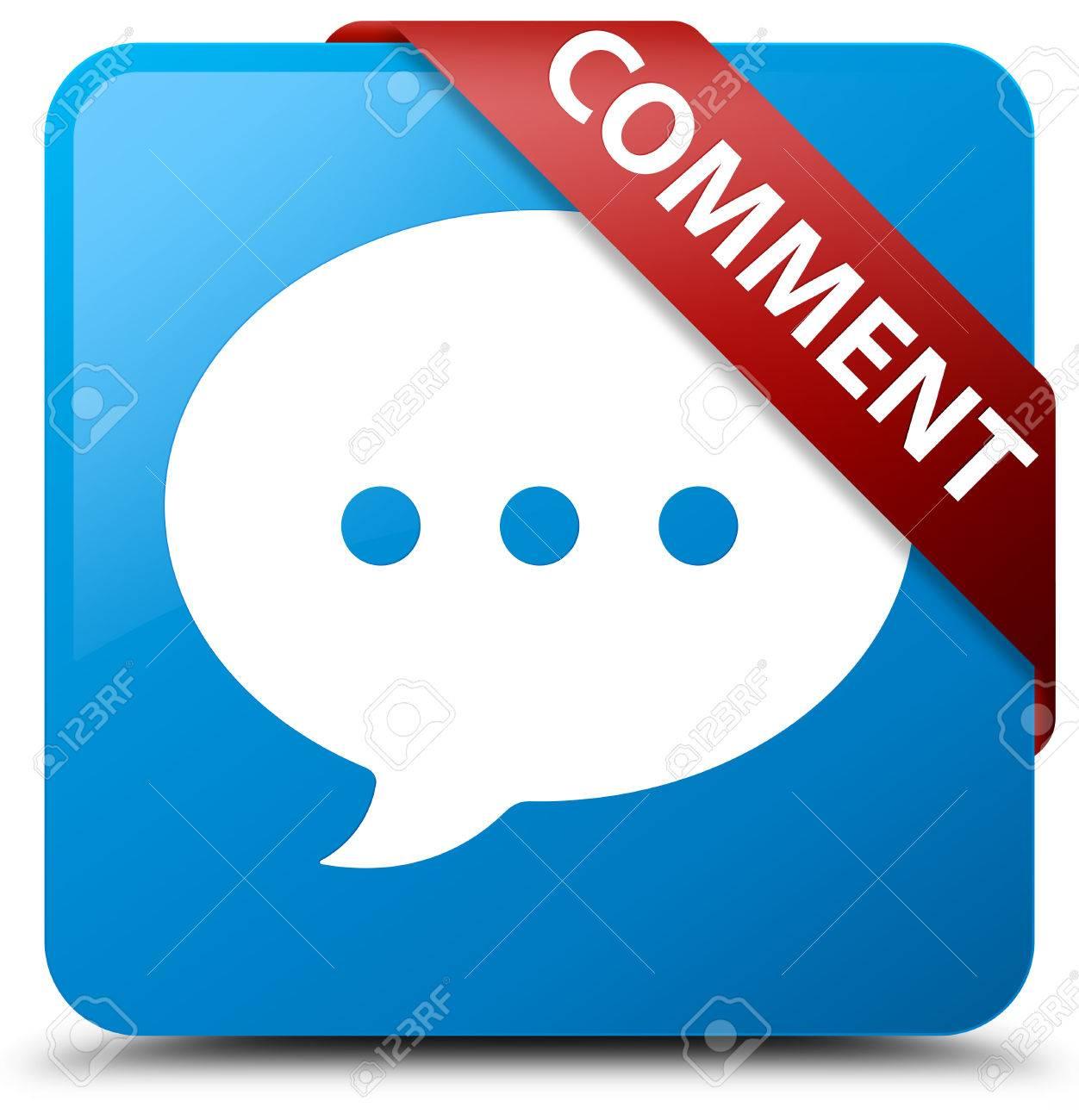 Kommentar (Gespräch-Symbol) Cyan Blauen Schalter Lizenzfreie Fotos ...
