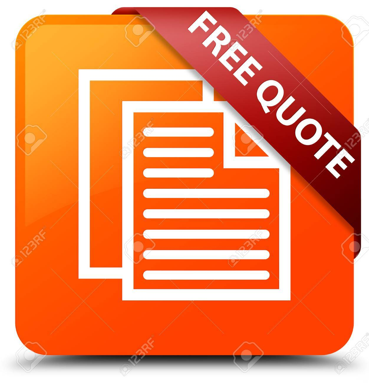 Free Qoute Free Quote Orange Square Button Stock Photo Picture And Royalty