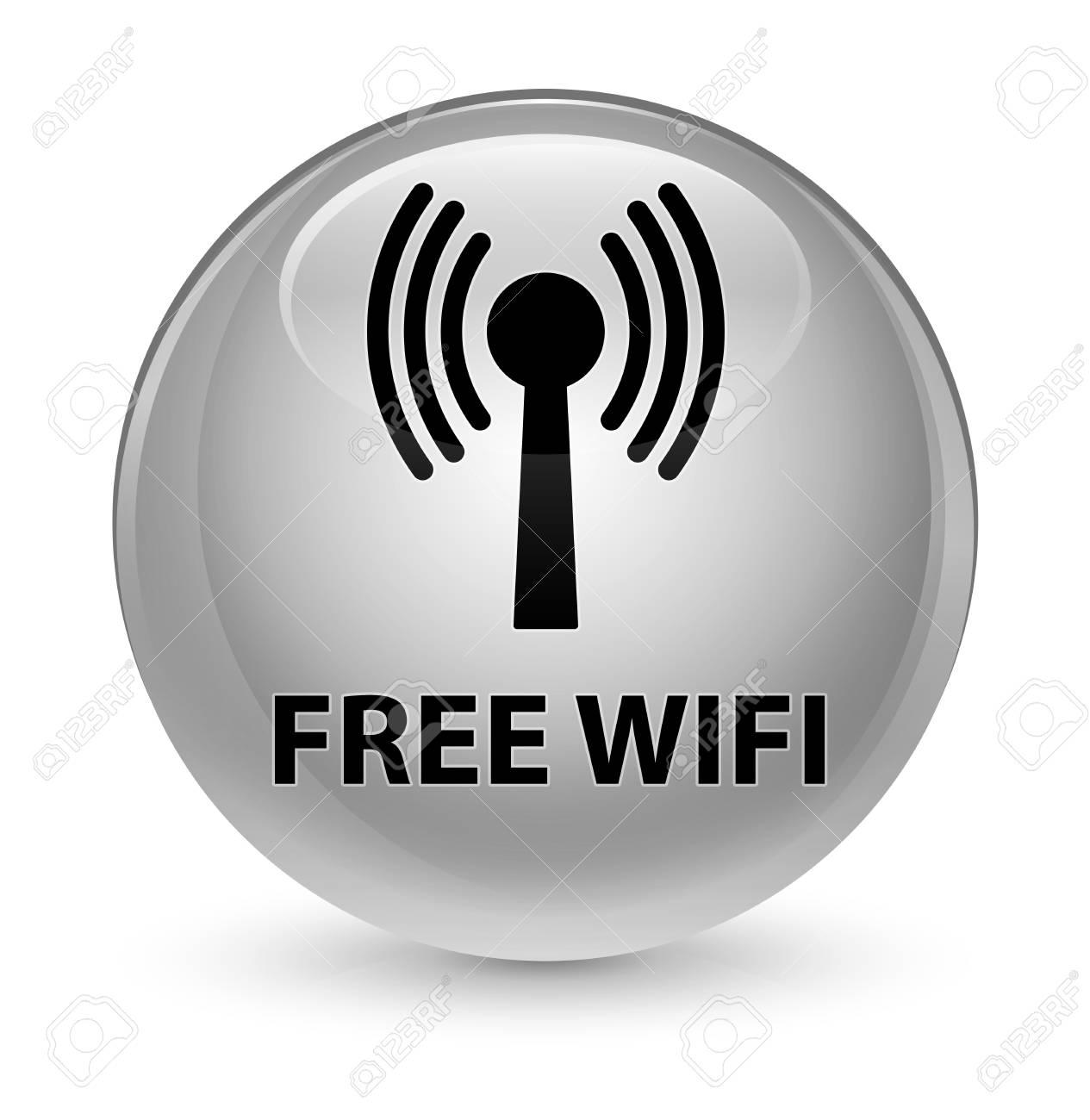 無料 Wifi 無線 Lan ネットワーク ボタンの抽象的なイラスト