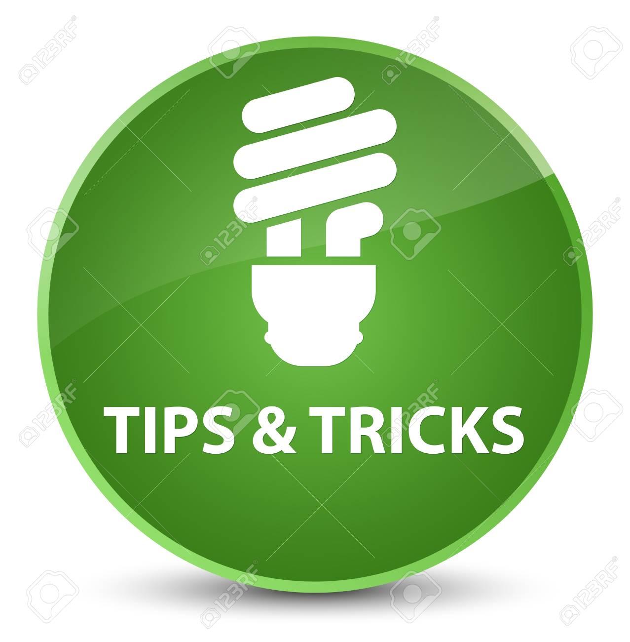 Tipps Und Tricks Birnenikone Lokalisiert Auf Eleganter Weicher
