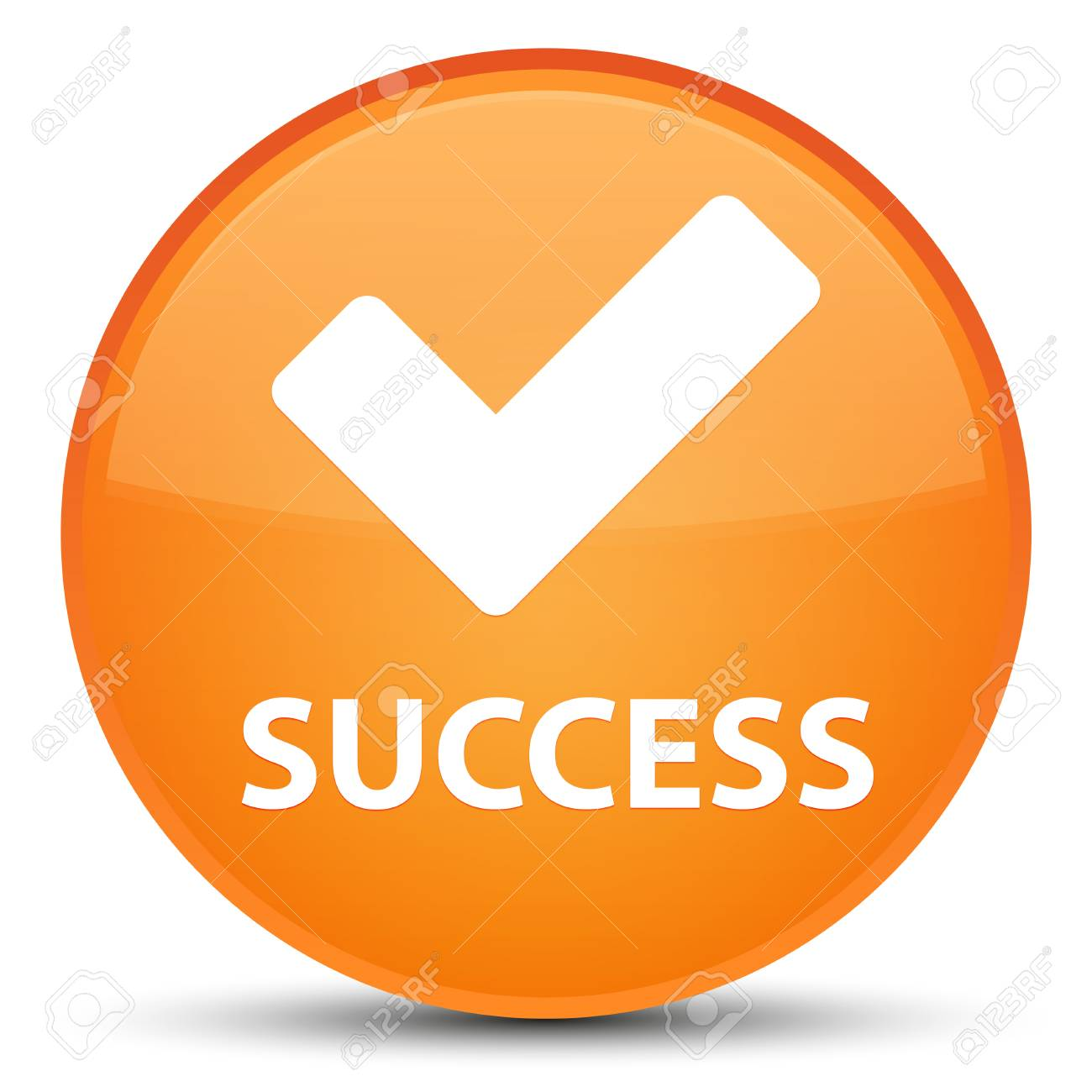 Success (validate icon) isolated on special orange round button abstract illustration - 89119037