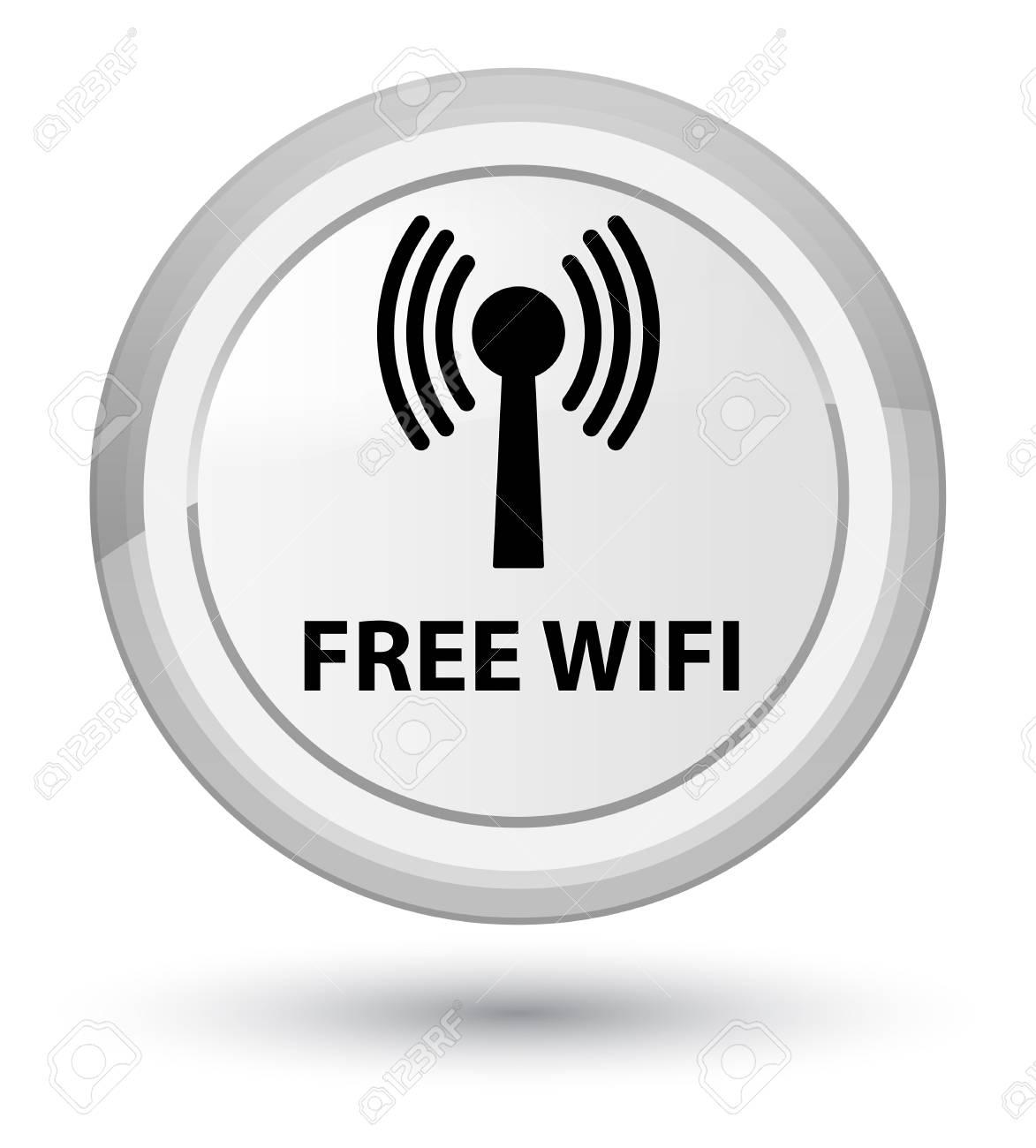 無料 Wifi 無線 Lan ネットワーク プライム ホワイト ボタン抽象的な