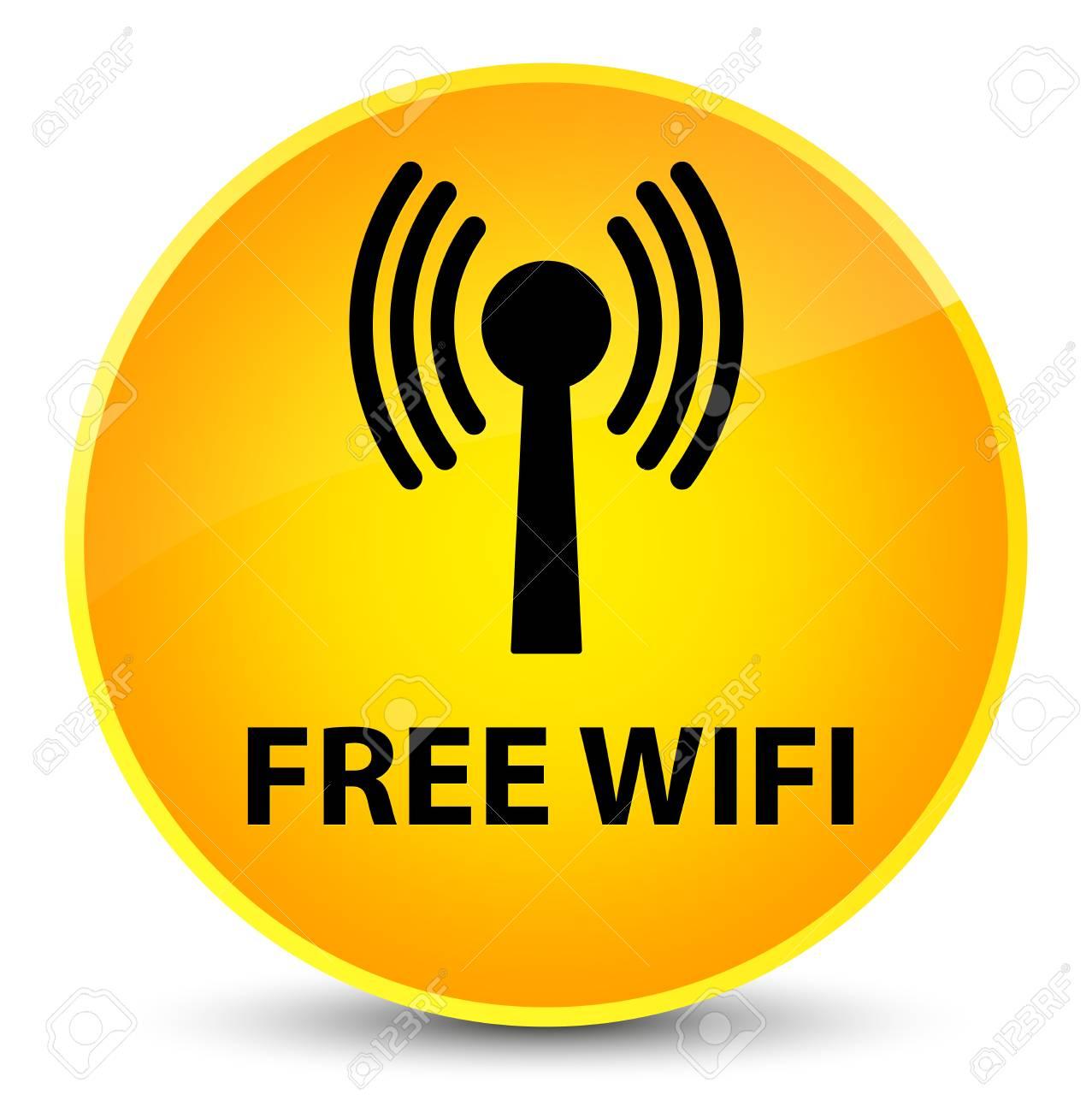 無料 Wifi 無線 Lan ネットワーク ラウンド ボタン抽象的なイラスト