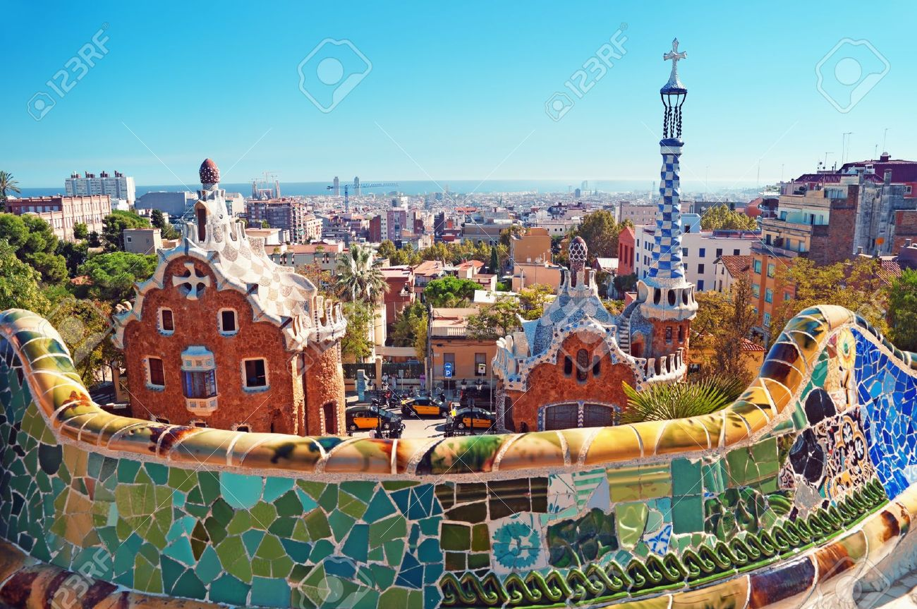 Park Guell in Barcelona. Barcelona - Spain. Stock Photo - 11313703