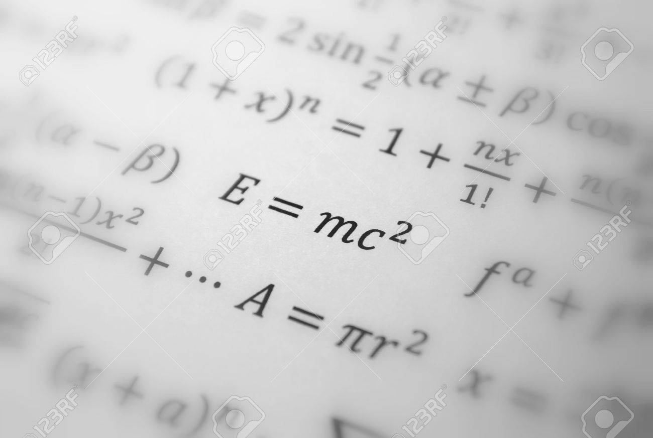 Einstein formula of relativity, math, number equation Stock Photo - 6129301