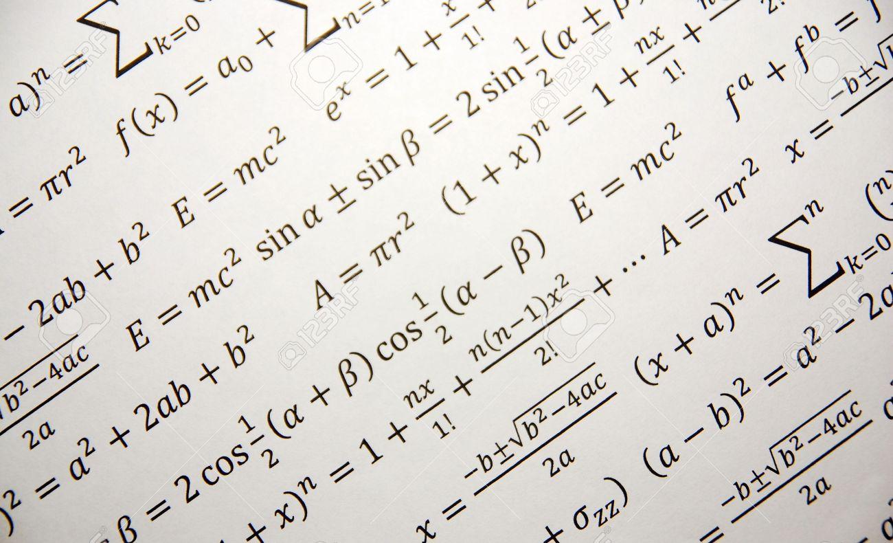 Math background with formulas, Einstein formula of relativity Stock Photo - 6129310