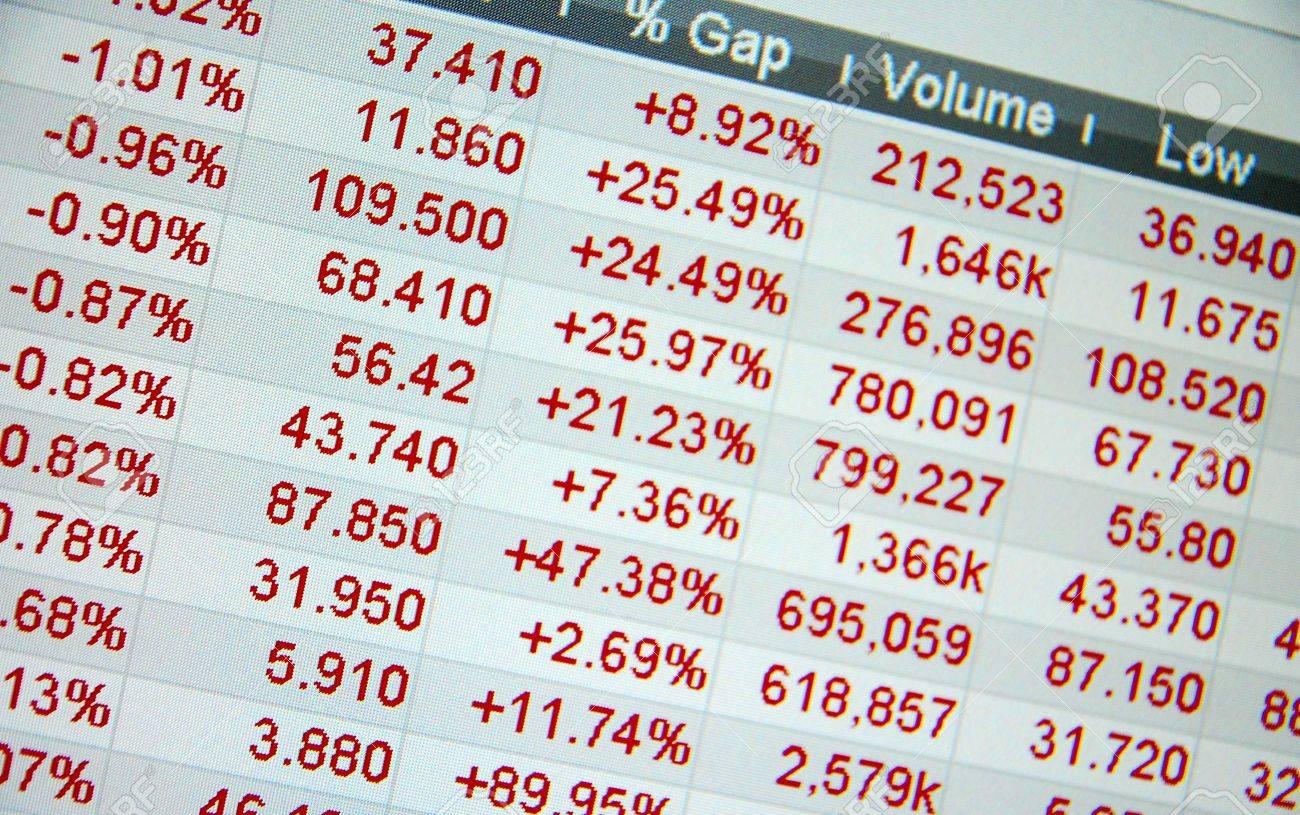 f81bb7cc82 Archivio Fotografico - Quotazioni di borsa, non quotazioni in tempo reale  presso il mercato azionario