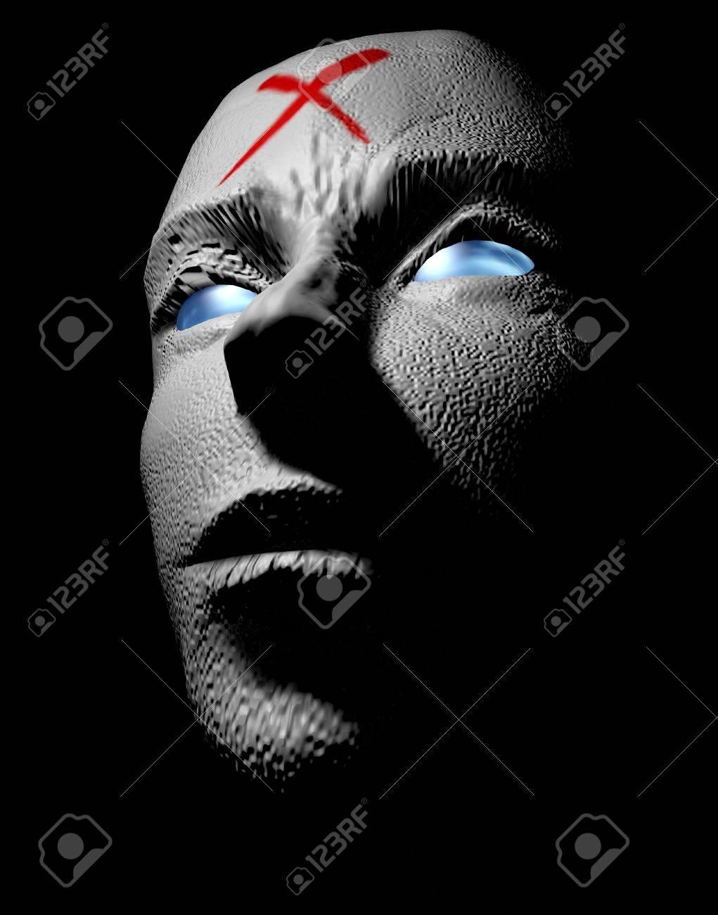 horror monster face 3d illustration Stock Photo - 9517072