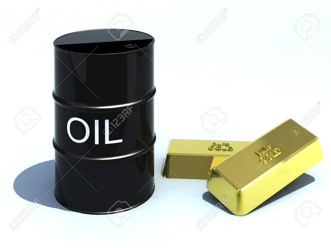 barrel oil like gold bullion Stock Photo - 13969508