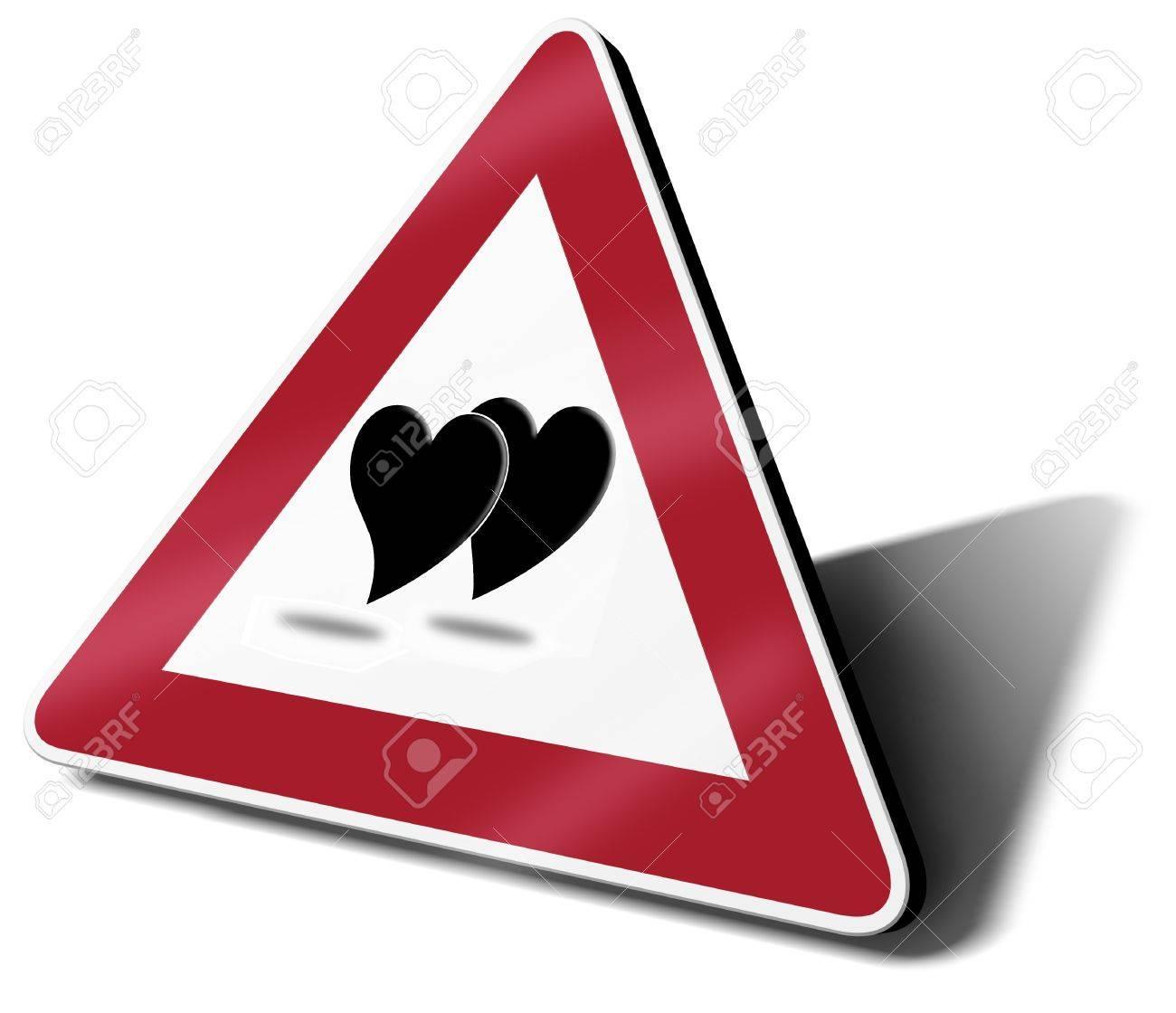 traffic sign love in progress 3d illustration Stock Illustration - 14314988