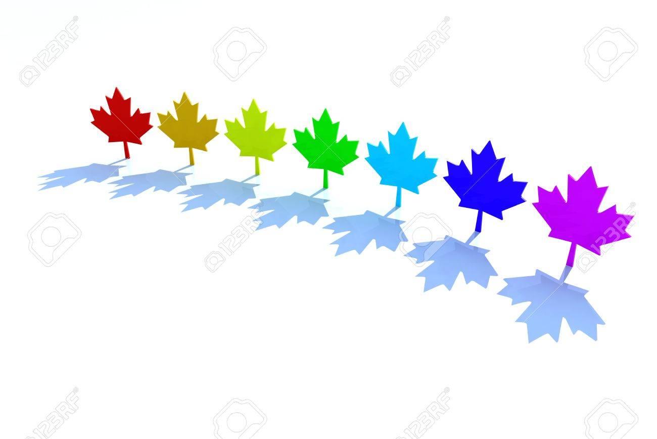 3d maple leafs rainbow colors canadian symbol ecology stock photo 3d maple leafs rainbow colors canadian symbol ecology stock photo 14586507 buycottarizona