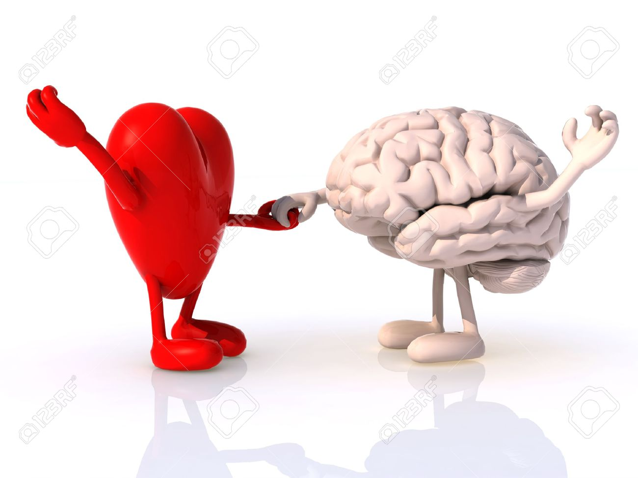 Heart And Brain That Dance, Concept Of Physical Wellbeing Stock ...