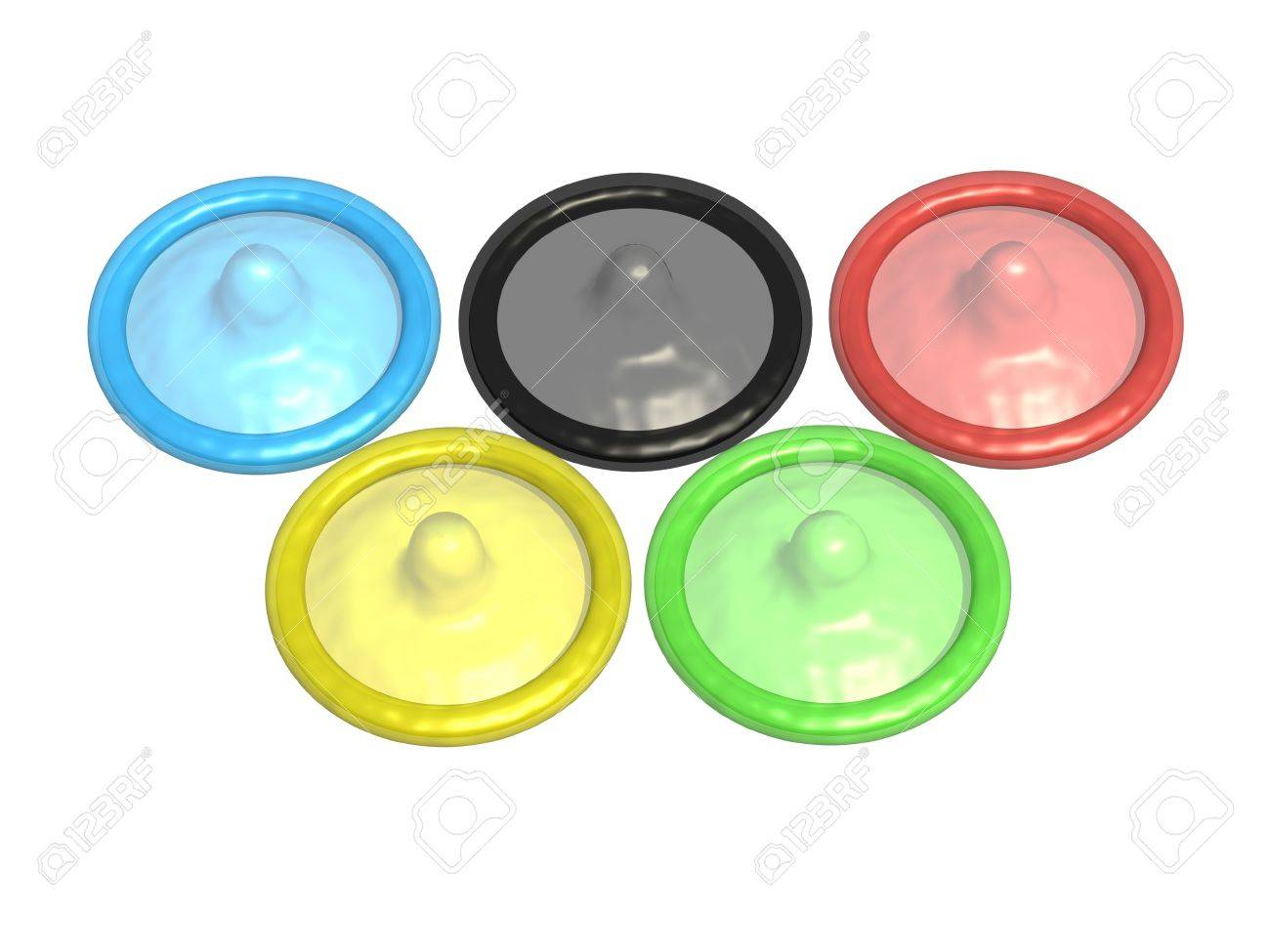 Five colored condoms that make up the symbol of the olympic games five colored condoms that make up the symbol of the olympic games stock photo 16832482 biocorpaavc Images