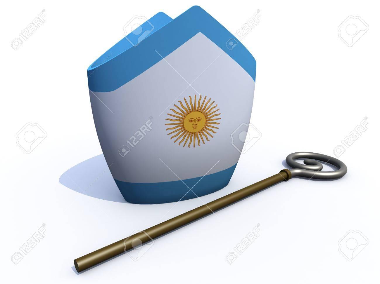 distribuidor mayorista Moda ofertas exclusivas Argentino sombrero Papa y báculo ilustración 3d