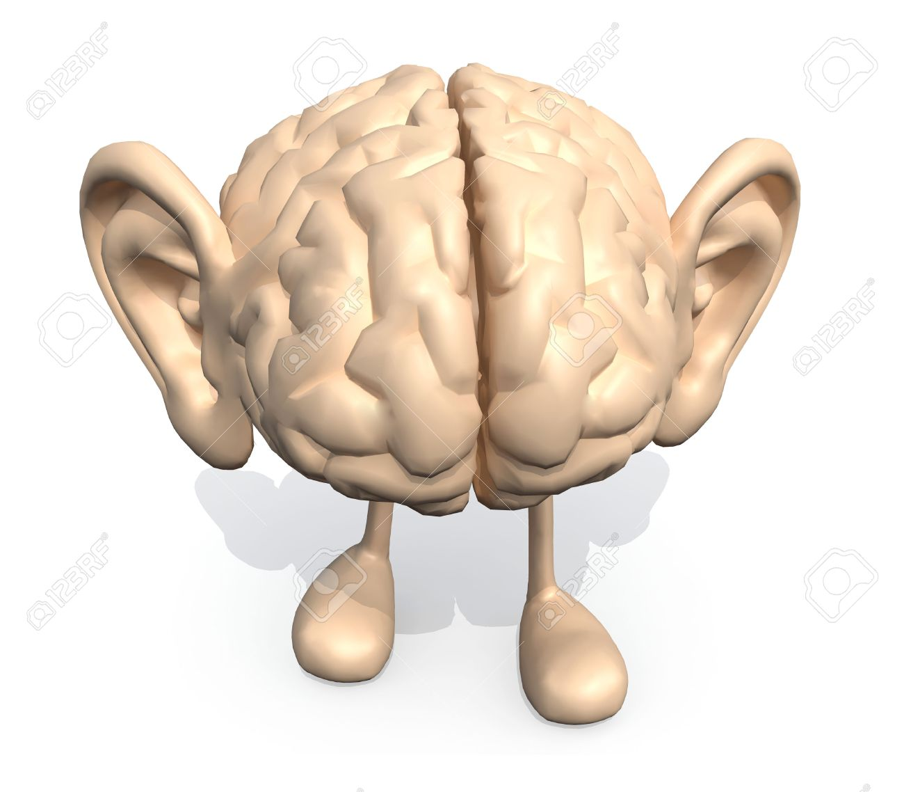 Brain diagram human ear example electrical circuit human brain with big ears and legs 3d illustration stock photo rh 123rf com human brain diagram and functions human brain drawing ccuart Images