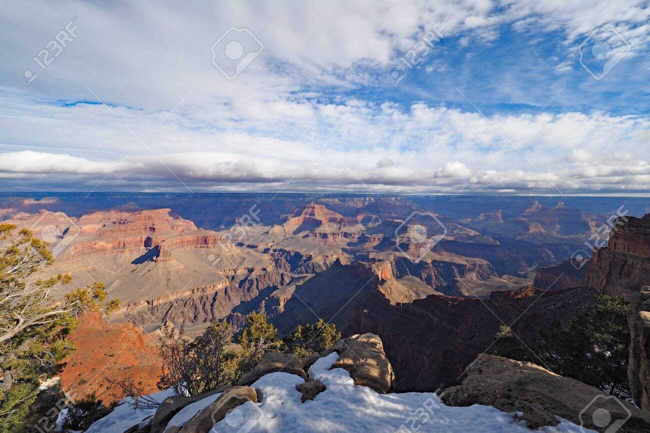View Of The Grand Canyon Under A Complex Cloudscape From The