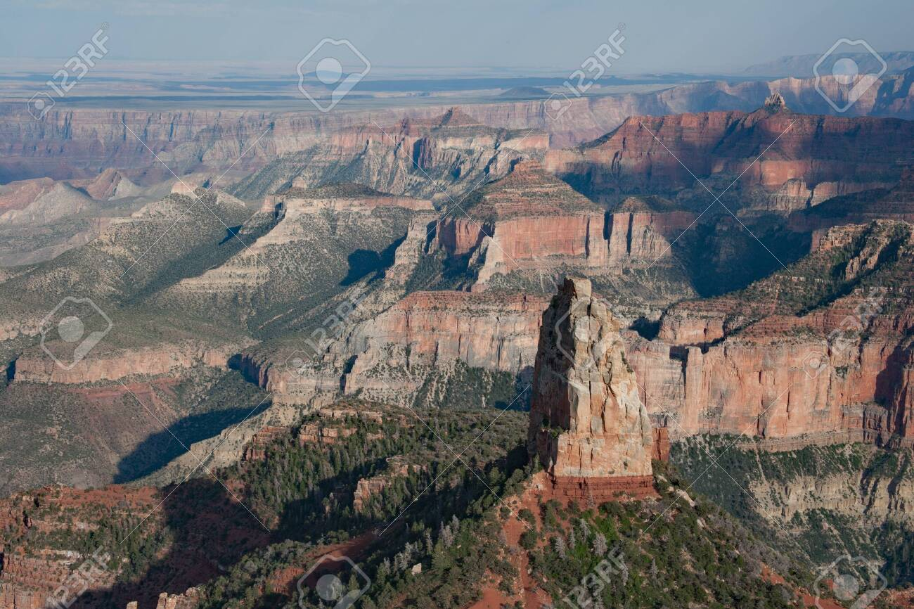 View Of Grand Canyon From Point Imperial On North Rim Of Grand