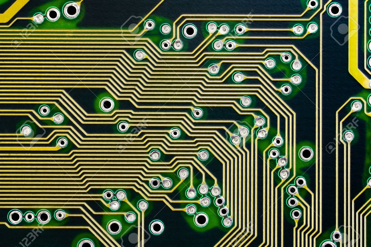 Electronic Circuits On A Computer Board Macro Photography Stock Circuit Electronics Design Software Photo 10164742