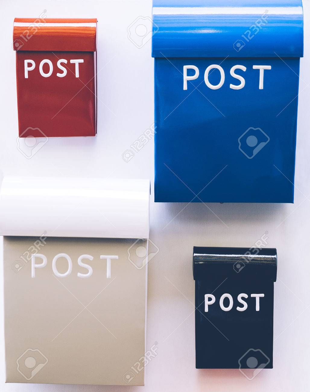 Colorful mail boxes Stock Photo - 80149213
