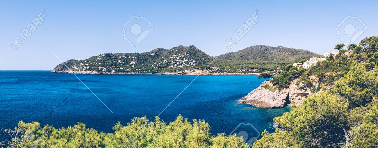 Panoramic view of the surroundings of Canyamel on the balearic island of Mallorca. Stock Photo - 85255950