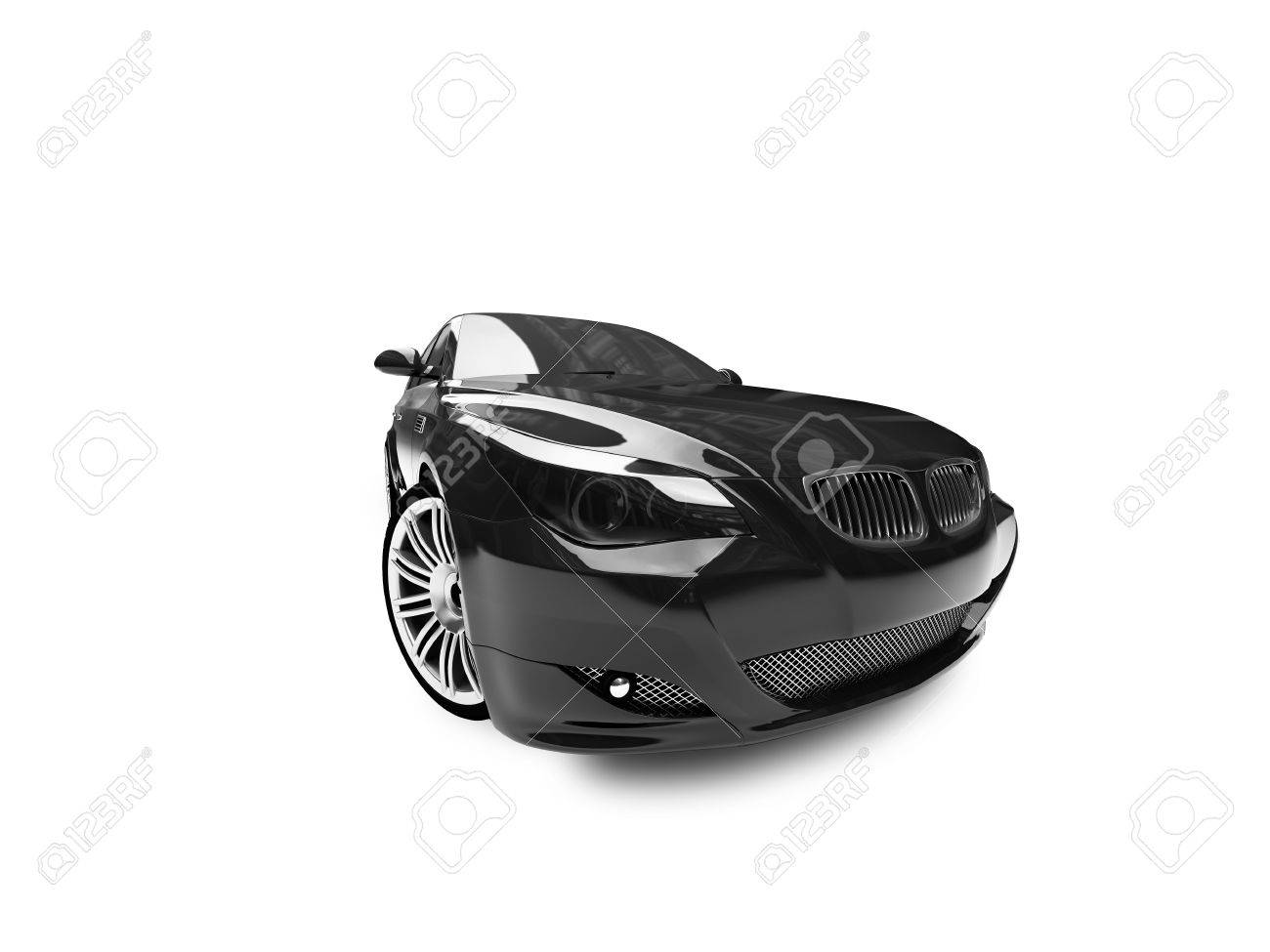 black car on a white background Stock Photo - 1209099