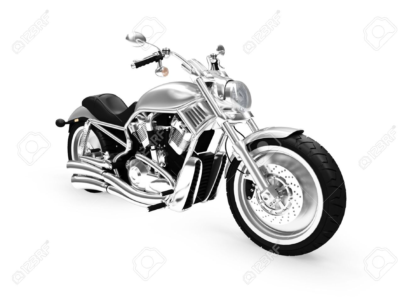 isolated motorcycle on a white background Stock Photo - 1214618