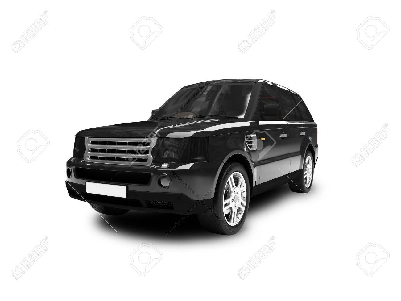 black car on a white background Stock Photo - 1214708
