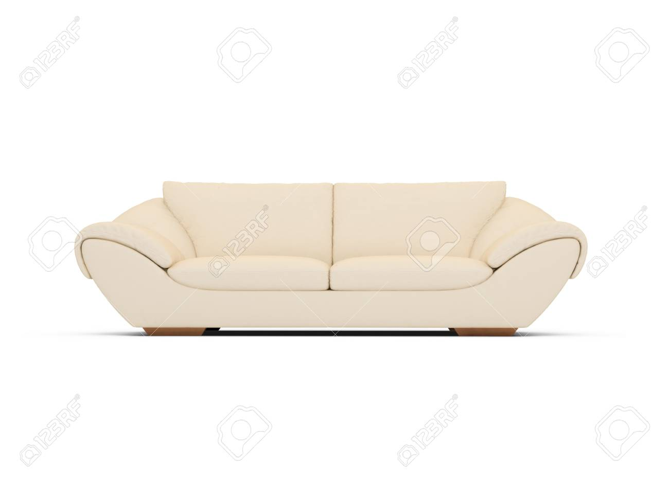 isolated couch over white background Stock Photo - 4684271