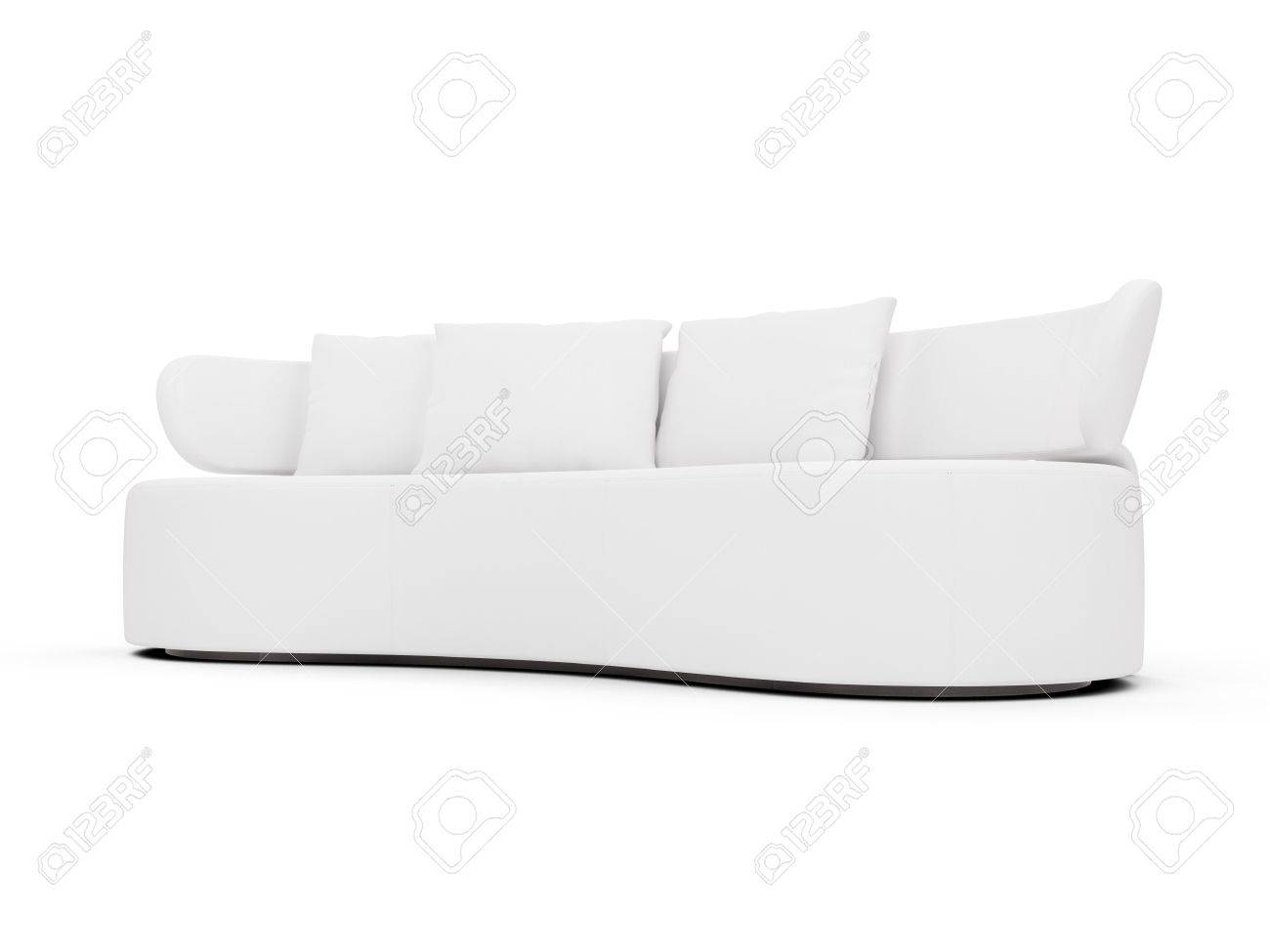isolated couch over white background Stock Photo - 4684276