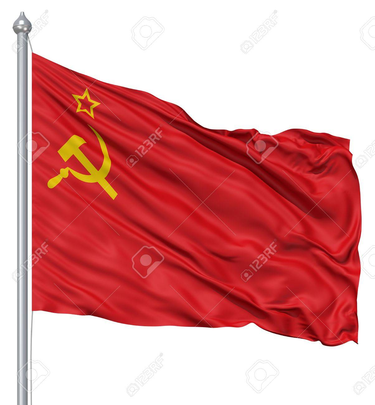 USSR national flag waving in the wind Stock Photo - 12994771