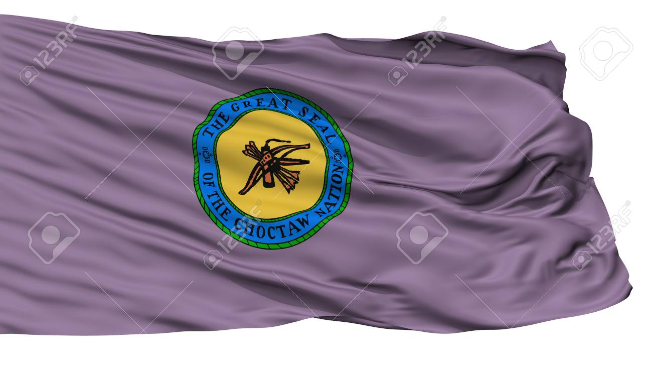 Choctaw Indian Flag Isolated On White Background 3d Rendering