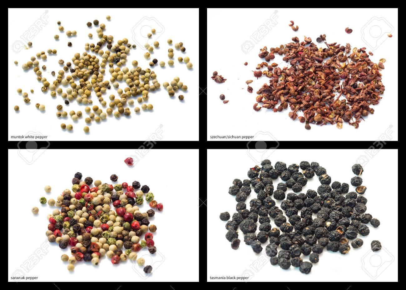 Muntok White Pepper, Szechuan Sichuan Pepper, Sarawak Pepper ...