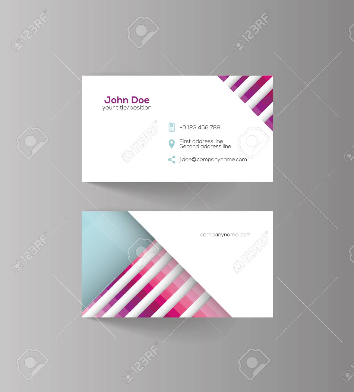 Business Card Design Idea For Your Company Royalty Free Cliparts ...