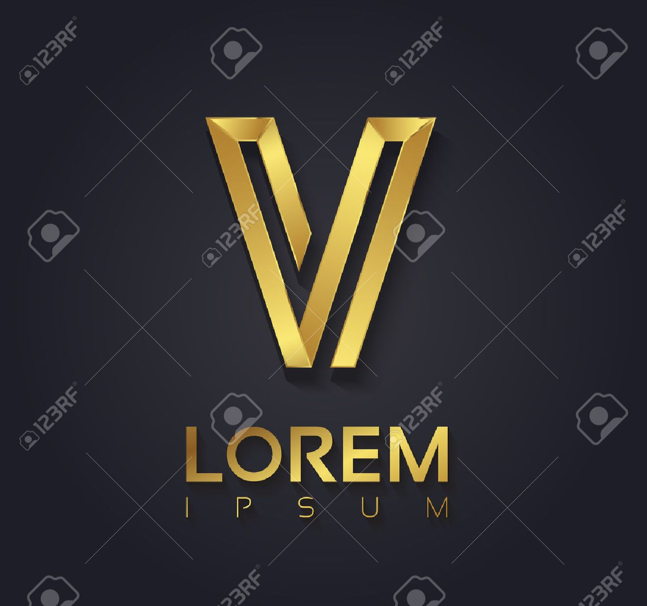 Vector graphic elegant golden font with sample text symbol vector vector graphic elegant golden font with sample text symbol alphabet letter v spiritdancerdesigns Gallery
