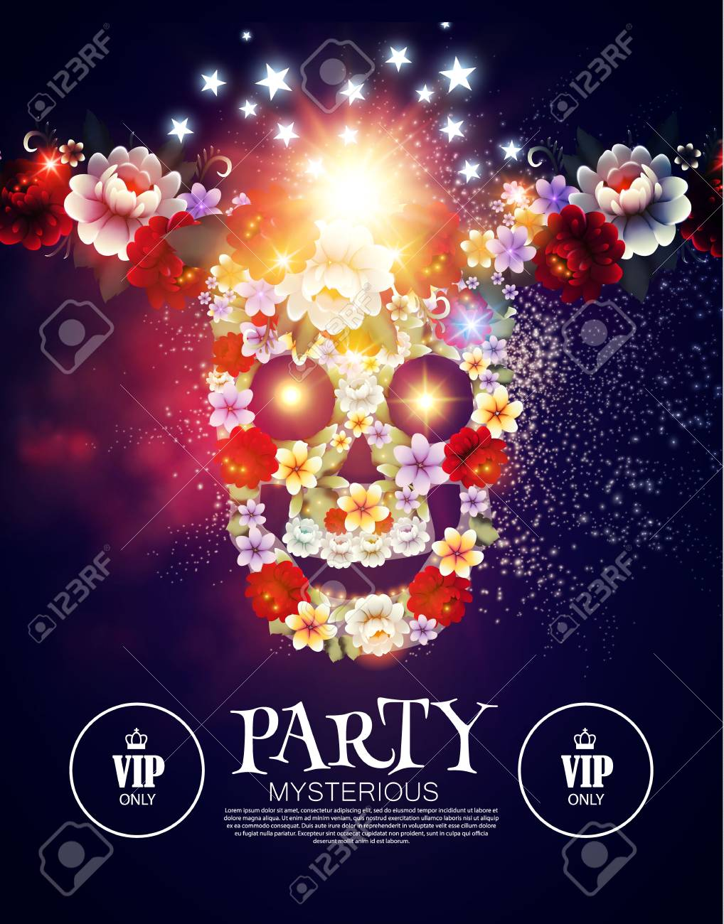 Dia De Los Muertos Mysterious Party Day Of The Dead Background With Traditional Mexican