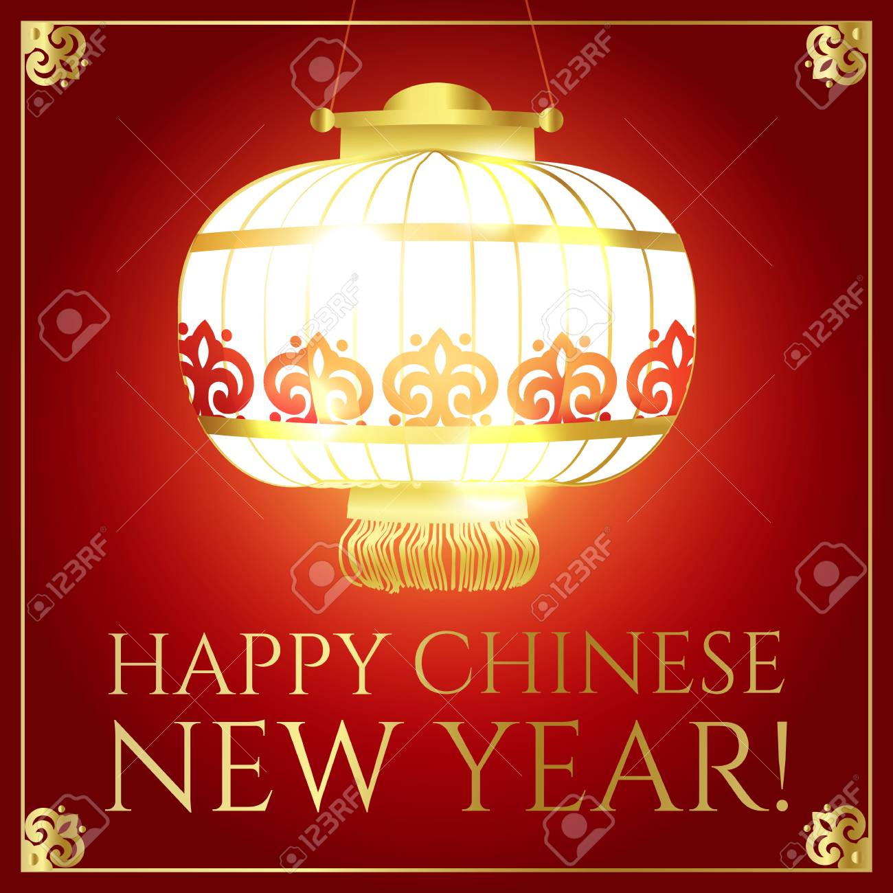 happy chinese 2018 new year background with lanterns and lights stock vector 93287894