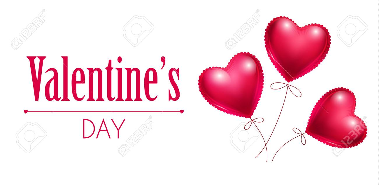 Heart And Balloons Happy Valentine S Day Love Background Royalty