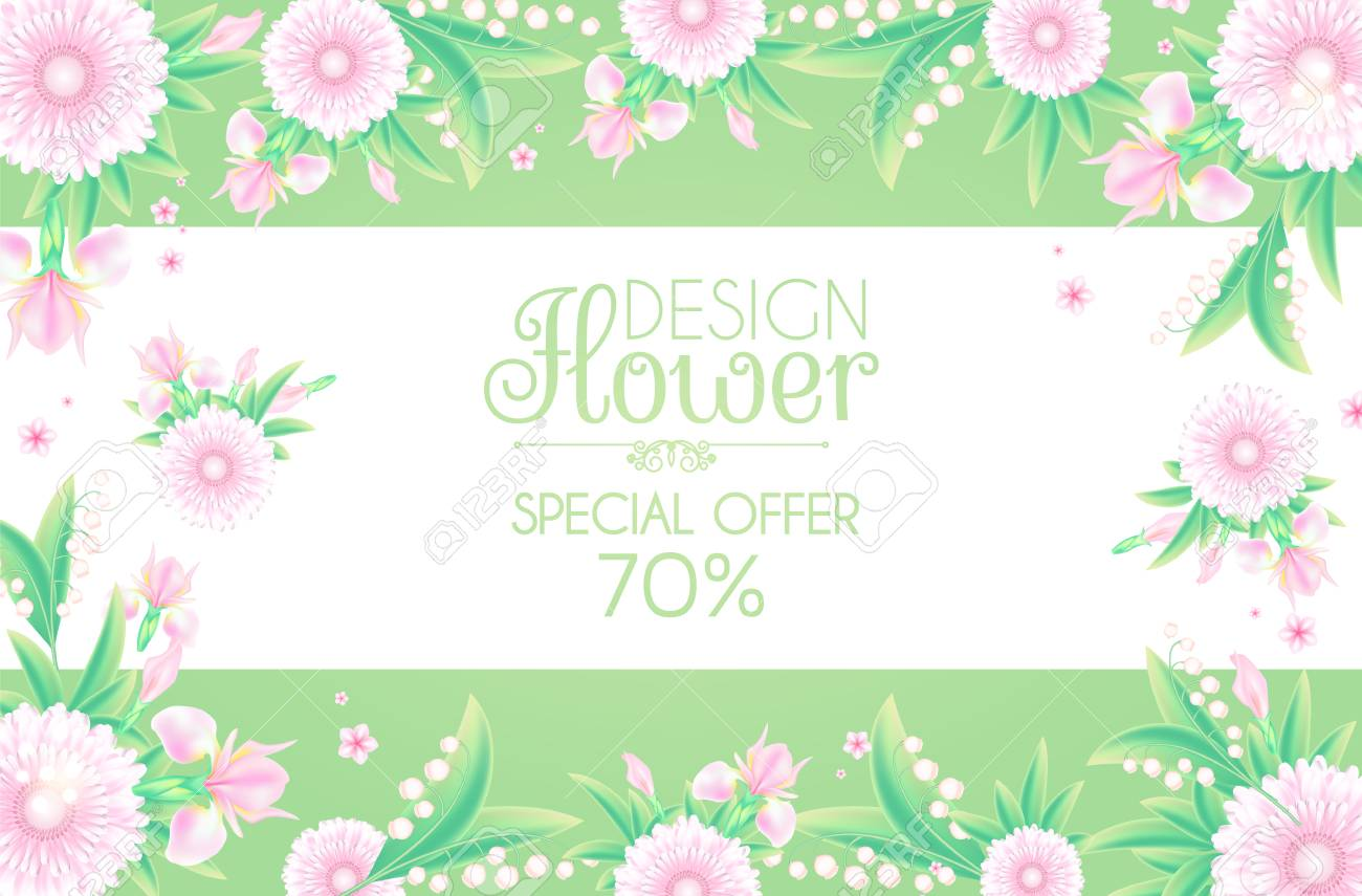8 March Womens Day Greeting And Invitation With Soft Flowers