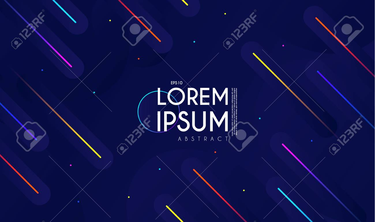 Minimal Geometric Motion Design  Dynamic Space  Abstract Colorful
