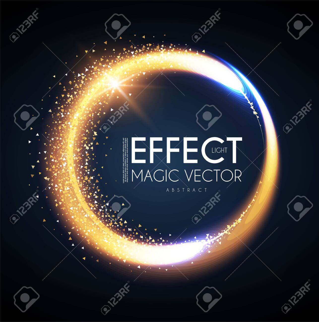 Magic circle light effect. Glittering and shining banner. Abstract background. - 135124706