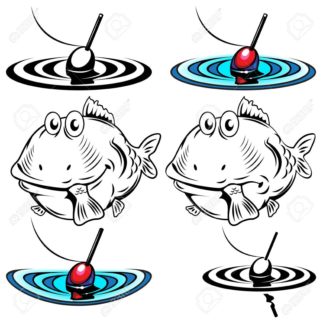 Illustrations of the two fish and floats Stock Vector - 13966572