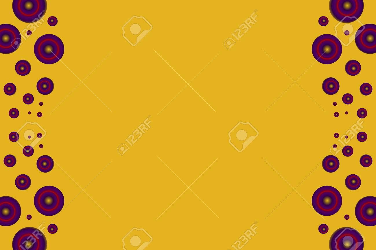 Círculos De Color Púrpura Como Marco Lateral Sobre Un Fondo Naranja ...
