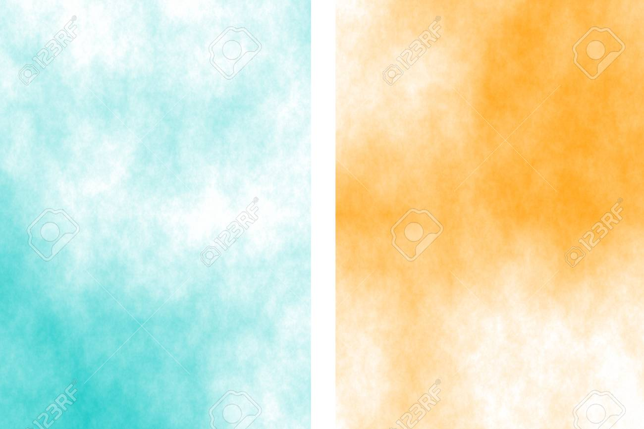 3f66bf70ba1 Illustration - Illustration of a cyan and orange divided white smoky  background