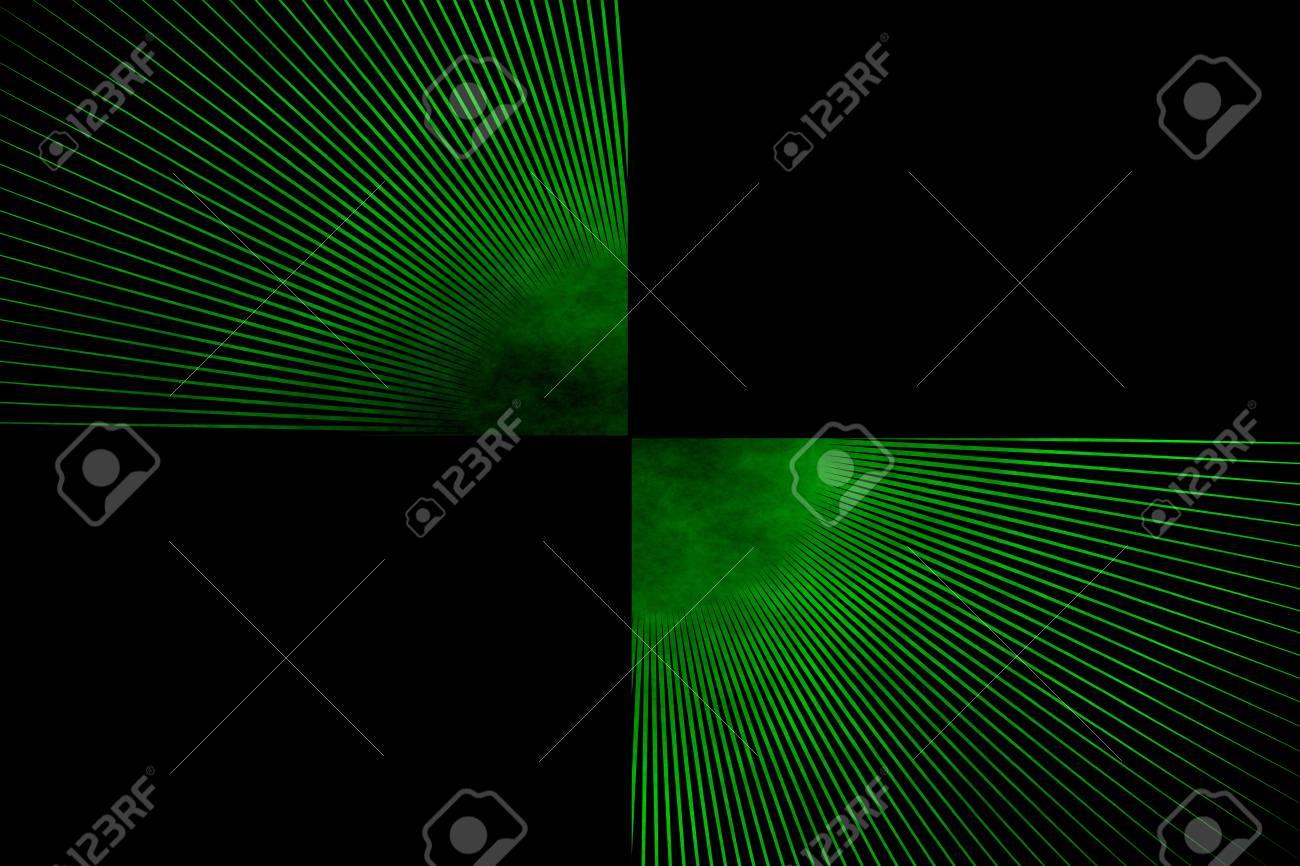 Immagini Stock Esplosione Di Linea Su Uno Sfondo Verde E Nero