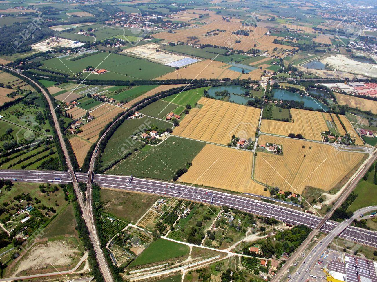 Aerial view of the city and of Freeway Stock Photo - 10869198