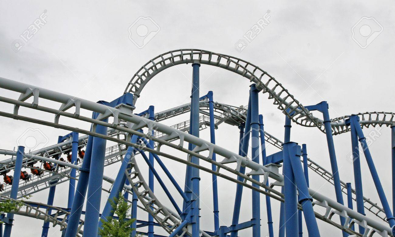 steep path to binaries in a suggestive of a roller coaster track Stock Photo - 14145195