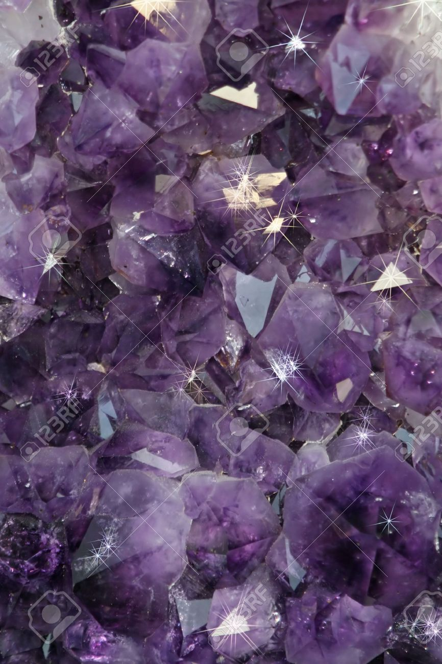 detail of a precious mineral purple shiny Stock Photo - 16464563