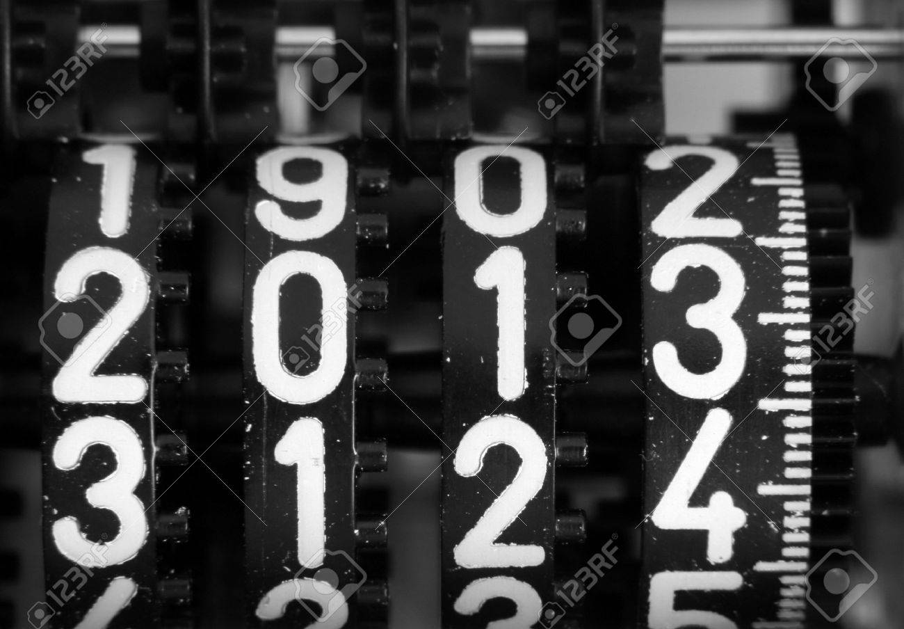 digits of a mechanical counter with the coming year 2013 Stock Photo - 16625751