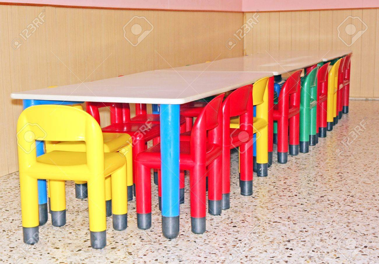 For A Dining Room Tables And Chairs For A Dining Room Table For A Kindergarten Stock