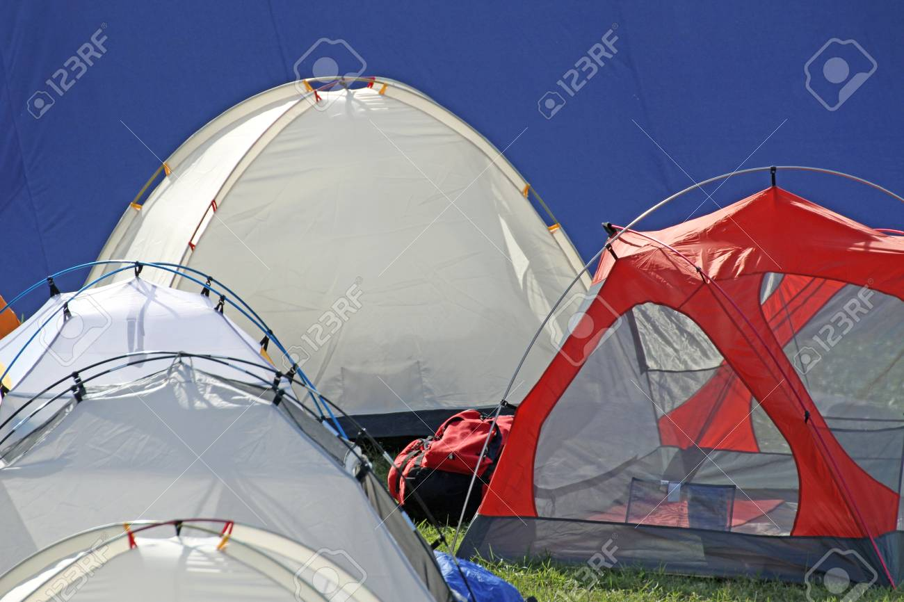 Stock Photo - tents igloo for the adventurous expedition around the world and blue background & Tents Igloo For The Adventurous Expedition Around The World And ...